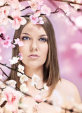 Woman and spring Royalty Free Stock Photo