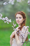 Woman in spring Royalty Free Stock Photos