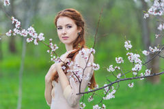 Woman in spring Royalty Free Stock Images