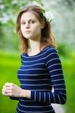 Woman at spring Royalty Free Stock Photos
