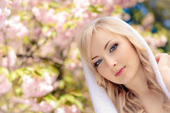 Woman in spring Royalty Free Stock Photo