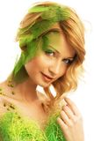 Woman in spring costume Stock Image