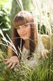 Woman in spring garden Stock Photos