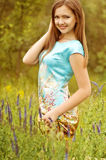 Woman in spring garden Royalty Free Stock Photography
