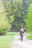 Woman in spring nature Royalty Free Stock Images