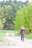 Woman in spring nature Royalty Free Stock Photography