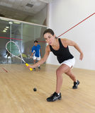 Woman squash player Royalty Free Stock Photography
