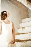 Woman on stairs Royalty Free Stock Photo