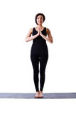 Woman stand and relax for yoga isolated Royalty Free Stock Photos