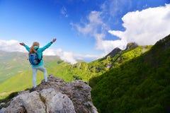 Woman in mountain Stock Photos
