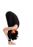 Woman stand in yoga pose - uttanasana asana Royalty Free Stock Photo