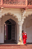 Woman standing in Anguri Bagh Grape Garden, Agra Fort, Uttar P Stock Image