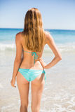 Woman standing on beach Royalty Free Stock Photography