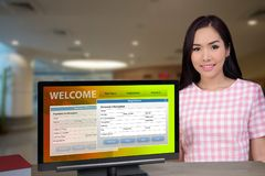 Electronic registration and payment form. Stock Photo