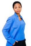 Woman Standing With Hands In Pockets Royalty Free Stock Photography
