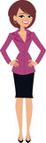 Businesswoman cartoon illustration Stock Image