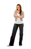 Woman standing isolated Stock Photography