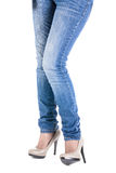 Female leg in shoes Stock Image