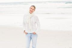 Woman standing near the shore Stock Photos
