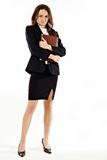 Woman standing with personal organizer Stock Photo