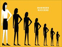 Woman standing in row stock illustration