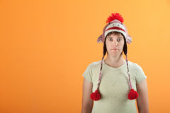 Woman Stares Royalty Free Stock Photo