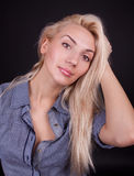 Woman staring at you Royalty Free Stock Images