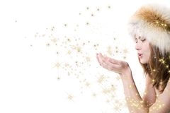 Woman with stars Stock Image