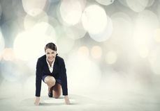 Woman at start Stock Photography