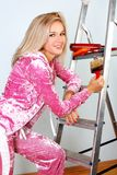Woman starting renovations Royalty Free Stock Image