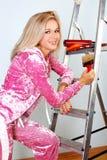 Woman starting renovations Royalty Free Stock Image