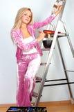 Woman starting renovations Stock Photos
