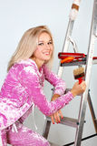 Woman starting renovations Royalty Free Stock Photos
