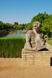 Woman statue in Alcazar gardens Stock Photography
