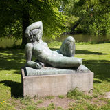 Woman Statue in Copenhagen Royalty Free Stock Image