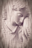 Woman Statue Fine Art. Double Exposure Black and White Split Toning Photography Stock Photos