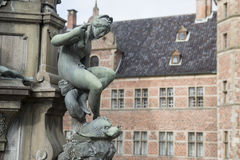 Woman statue in friederiksborg castle royalty free stock image