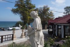 Woman statue. Near the beach Stock Photography
