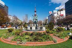 Woman statue at Odori Park, Sapporo Stock Images
