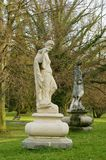 Woman. Statue of Paskov park. Stock Photos