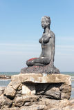 Woman Statue at Praia Grande Brazil Royalty Free Stock Image
