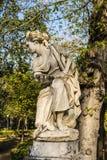 Woman Statue in Villa Giulia, Palermo, Italy Stock Photos