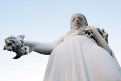 Woman statue widow flowers sad Royalty Free Stock Photography