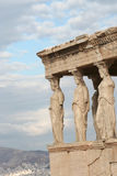 Woman Statues of the Porch of The Caryatids Royalty Free Stock Photos