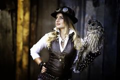 Free Woman Steam Punk Royalty Free Stock Images - 106961749