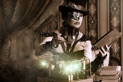 Woman steampunk Stock Photos