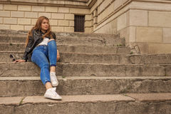 Woman on steps Stock Photos