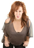 Woman Sticking Out Her Tongue Royalty Free Stock Photography