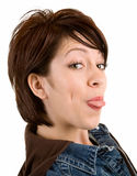 Woman Sticking Out Her Tongue Stock Image