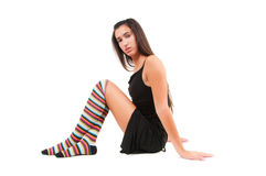 Woman in stockings Stock Images